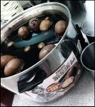 Eggs boiled in tea