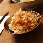 Rice with dried fish