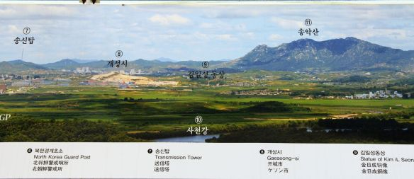 The map of the North Korean border line